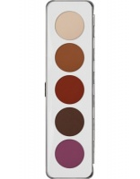 KRYOLAN-EYE SHADOW / PALETA 5 KOL CIENI DO POWIEK MATT