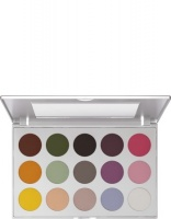KRYOLAN-VIVA MATT COLOR PALETTE 15 COLORS / CIENIE DO POWIEK