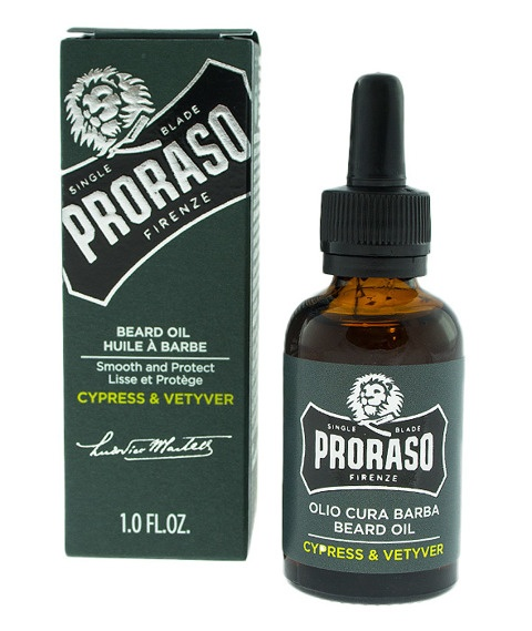 PRORASO-BEARD OIL CYPRESS & VETYVER OLEJEK DO BRODY 30ML