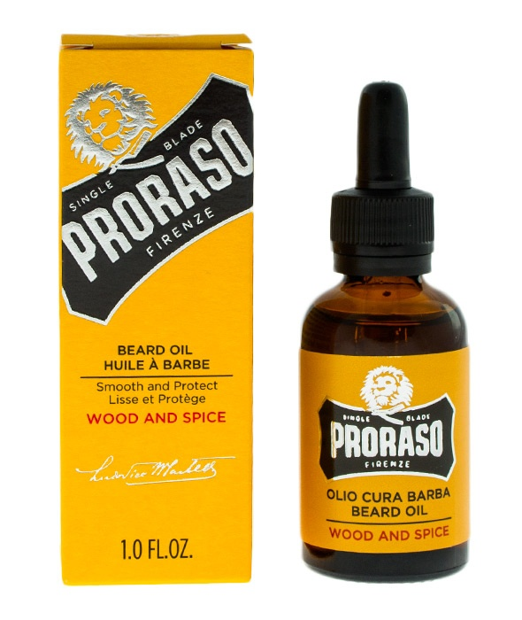 PRORASO-BEARD OIL WOOD & SPICE OLEJEK DO BRODY 30ML