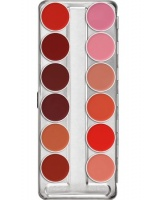 KRYOLAN-LIP ROUGE PALETTE 12 COLORS / SZMINKI DO UST / CLASSIC 1