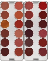 KRYOLAN-LIP ROUGE PALETTE 24 COLORS / SZMINKI DO UST / Fashion