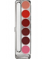 KRYOLAN-LIP ROUGE PALETTE 6 COLORS / SZMINKI DO UST / STANDARD
