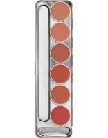 KRYOLAN-LIP ROUGE PALETTE 6 COLORS / SZMINKI DO UST / STANDARD 1